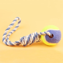 Pet Dog Tennis Ball Toys with Rope Puppy Indoor Outdoor Training Playing Interactive Toy for Funny