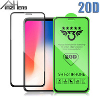 20D Full Cover Tempered Glass For iPhone 6 7 8 Plus X XR XS MAX Glass For iPhone 6 7 8 Plus X XR Glasses Protector Film militech 6 x 8