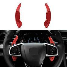 2PCS Aluminum Alloy Steering Wheel Shift Paddle Shifter Extension for Honda Spirior Accord Odyssey Acura CR-V UR-V steering wheel shifter paddle for bmw f20 f22 f30 f32 f48 f25 f26 car dial shift paddle steering gear paddle aluminum alloy pick
