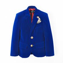 YuanLu Kids Suits For Boy Single-Breasted Velvet Blazer Jack