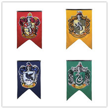 Wizardry Flag Banners Party Pott har College HP Boys Witchcraft School Girls Hogwarts Supplies Gift Decoration birthday Kids(China)