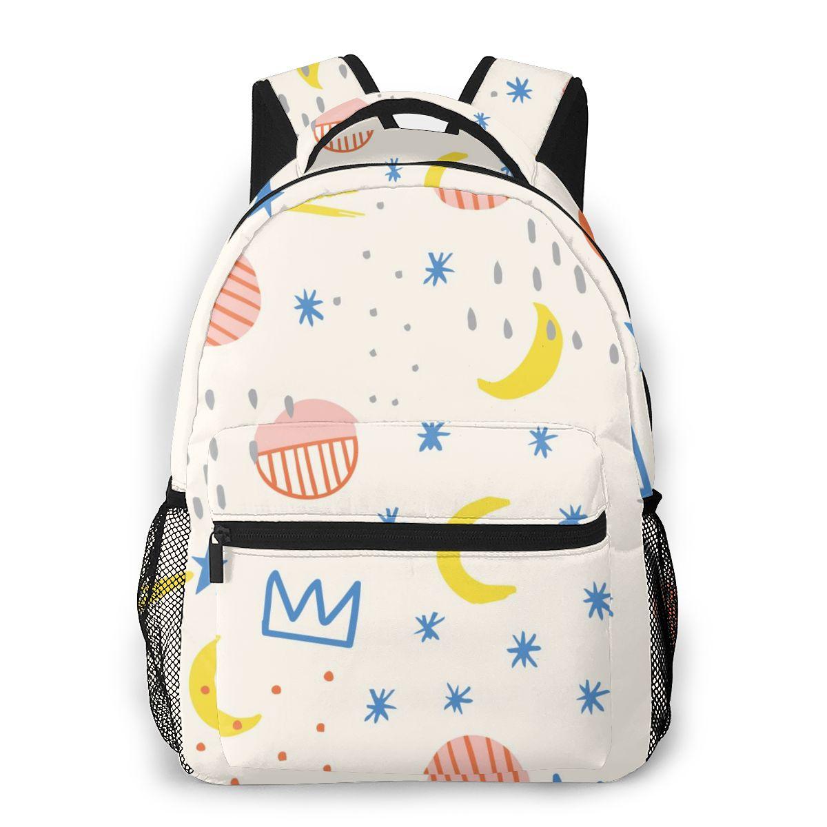 Mochila de Ombro Estrelas e Luas Bolsa de Escola para Adolescentes Bolsa de Viagem Mochila Feminina Moda Crianças Mochilas 2020