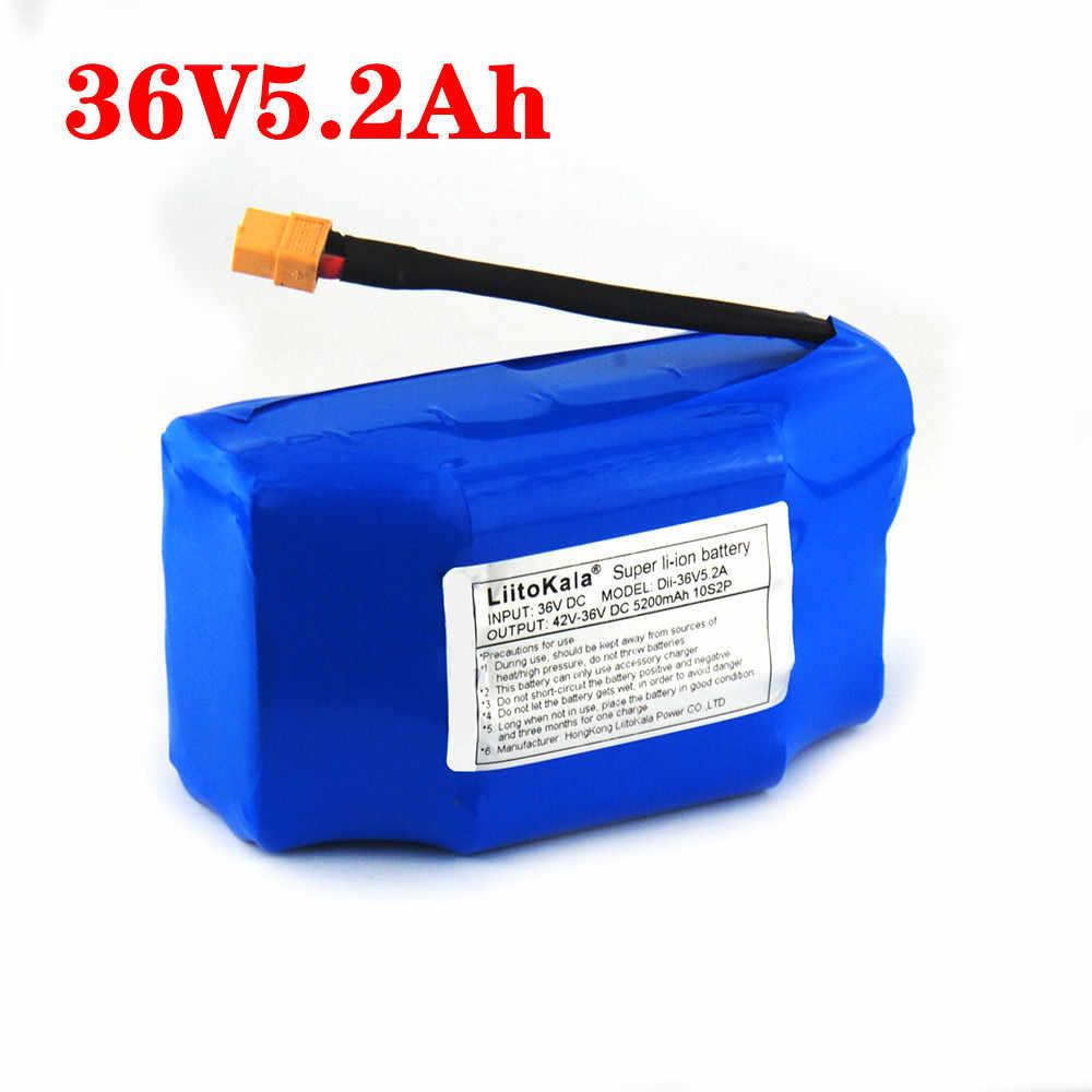 LiitoKala 36V 4.4ah 5.2ah ליתיום נטענת סוללות ליתיום יון עבור חשמלי עצמי איזון קטנוע hoverboard חד אופן