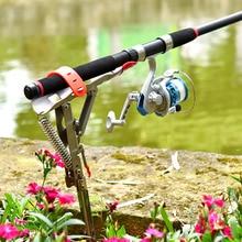 Складной автоматический двойной пружинный угол рыболовный полюс снасти кронштейн антикоррозийный стальной рыболовный кронштейн держатель удочки рыболовные снасти