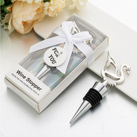 Stainless Steel Swan design Stopper Wedding Party Favors Gift Wholesale Wedding Gift for Guests