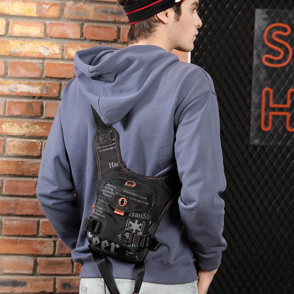 Men Multi-Functional Leg Bag Fashion Military Outdoor Sports Waist Pack Crossbody Shoulder Bags Chest Bag