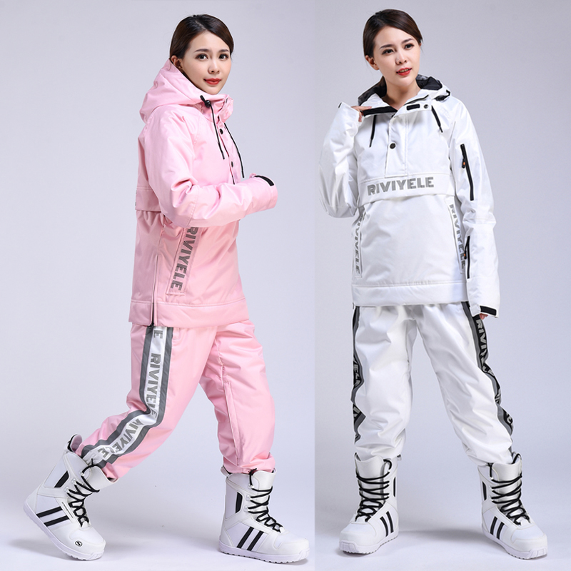 Women Ski Suit Breathable Warm Winter Sports Windproof Waterproof Jacket Ski Pants Women