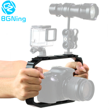 يده هيكل قفصي الشكل للكاميرا ل DJI oomo عمل/يي/EKEN ل Gopro 7 6 حامل هاتف ذكي حامل فيديو Vlog قبضة استقرار تلاعب قوس