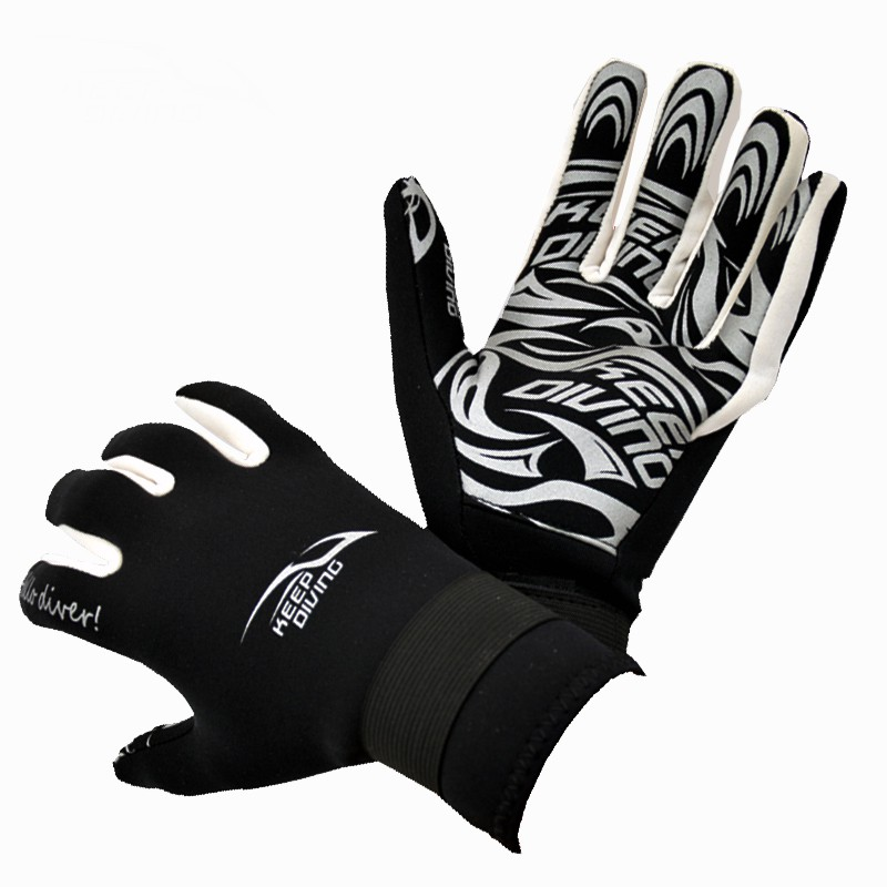 1 Pair 2mm Neoprene Scuba Diving Gloves Non-slip Snorkeling Submersible Supplies Skiing Surfing Sport Gloves