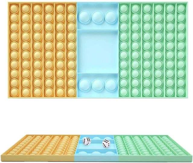 New Big Size Pop Push Bubble Rainbow Board Game Fidget Toys Fun Games 2