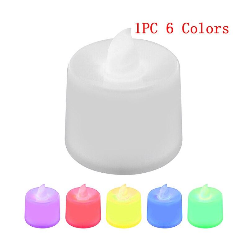 Батареи в комплекте чайный свет мерцающий беспламенный светодиодный свечи Буги велы электрические свечи Chandelle Свадебные украшения - Цвет: Colorful