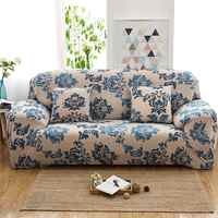 Yeahmart Retro Elastische Sofa Abdeckung Sessel Sofa Couch Floral Schutzhülle Stuhl Protector 1/2/3 Sitzer Sofa Abdeckung gedruckt