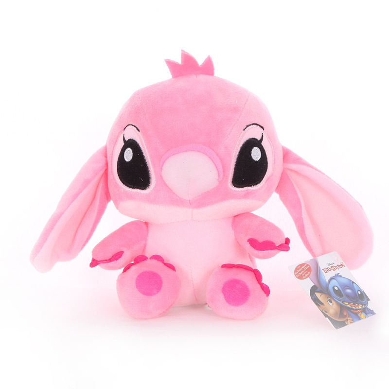 Pink realistic stitch plush toy