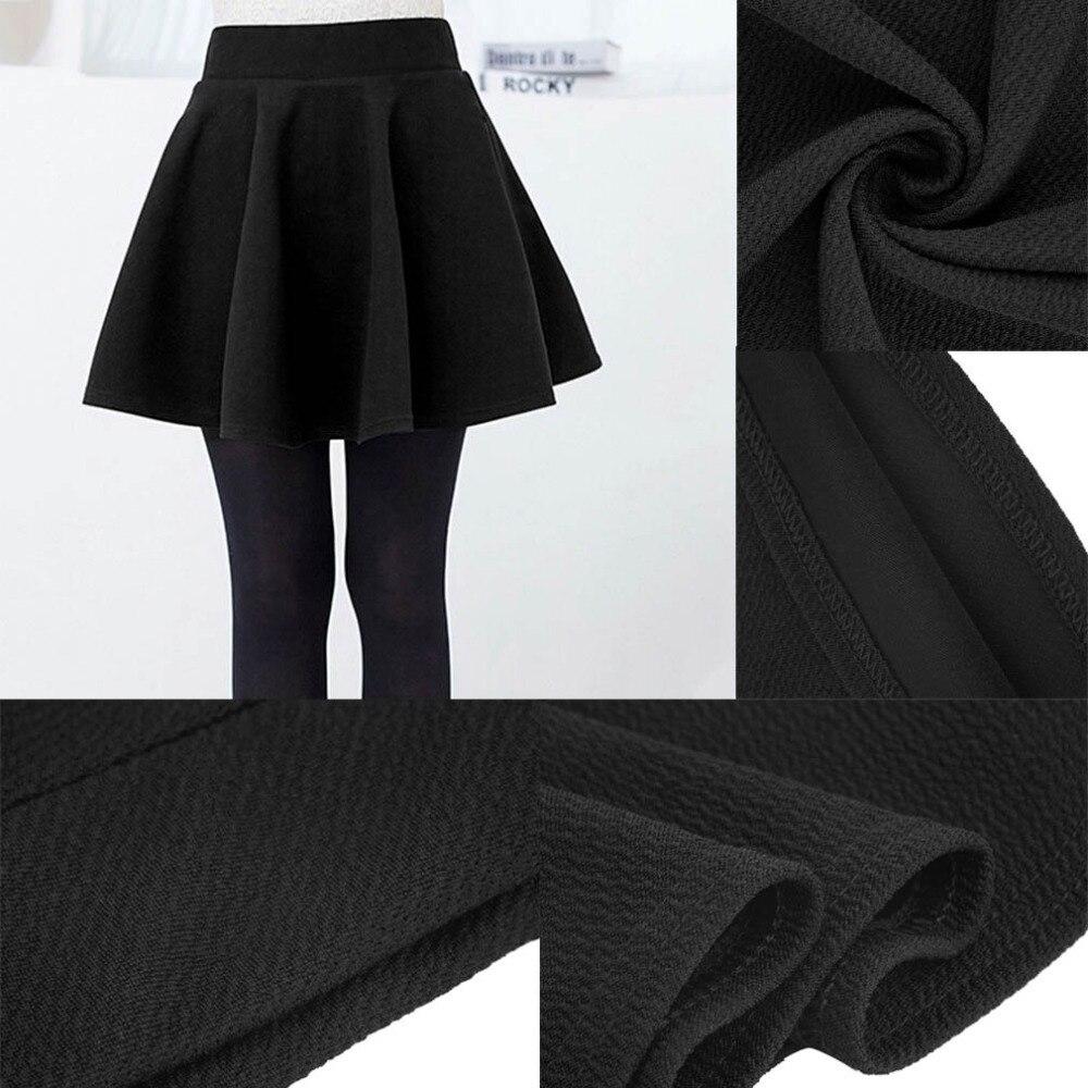 High Waist Pleated Skirts Kawaii Harajuku Skirts For Women Girls Plain Beauty Flared Skirt Large Size School Uniform Style