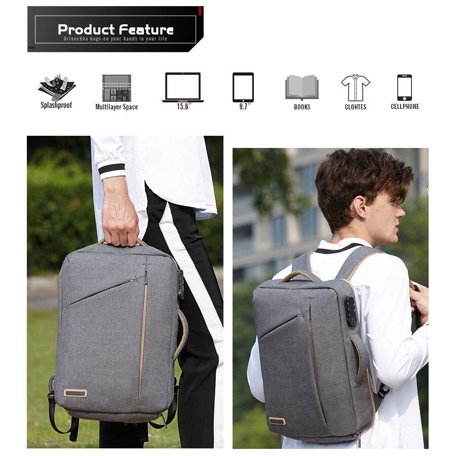 Image 4 - Stylish Slim 15.6 Inch Laptop Backpack Men Office Work Business  Backpacks 2019 Unisex Black Ultralight School Bags for Boys  ThinBackpacks