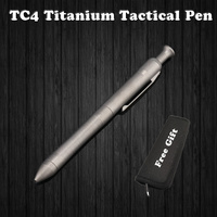 High Quality Titanium TC4 Tactical Pen Self Defense Business Writing Pen Outdoor EDC Tool Pen Bag Christmas Gift