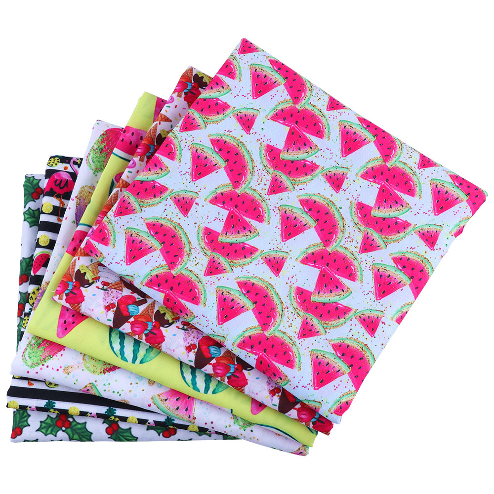 50*140 см с фруктовым рисунком, Полиэстеровая хлопковая ткань из смешанных материалов, с принтом для ткани Дети Домашний текстиль для шитья пл...