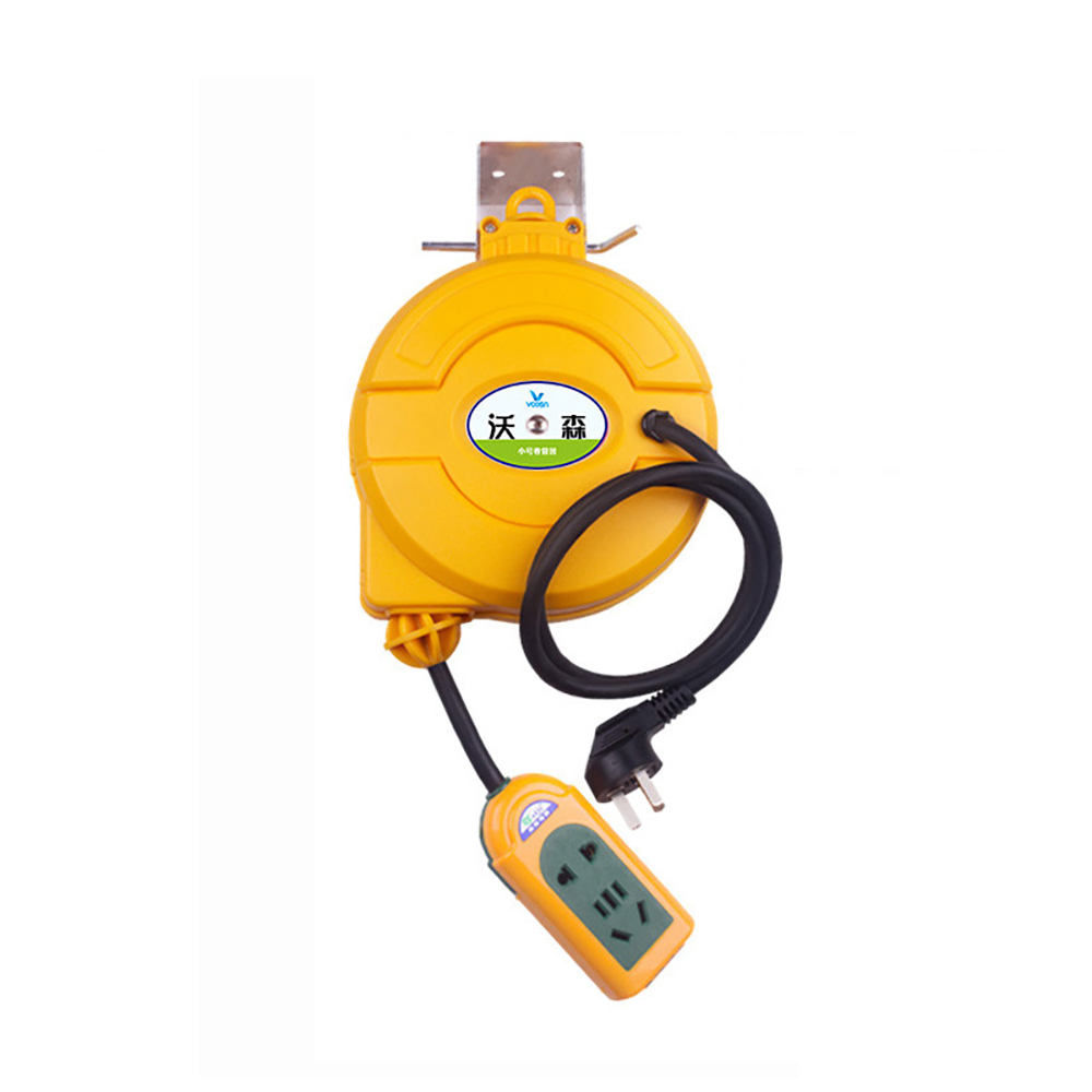 5M Automatic Retractable Power Cable Reel Wire Telescopic Cable Drum Electric Cable Reel Power Supply Hose Reel 3000W