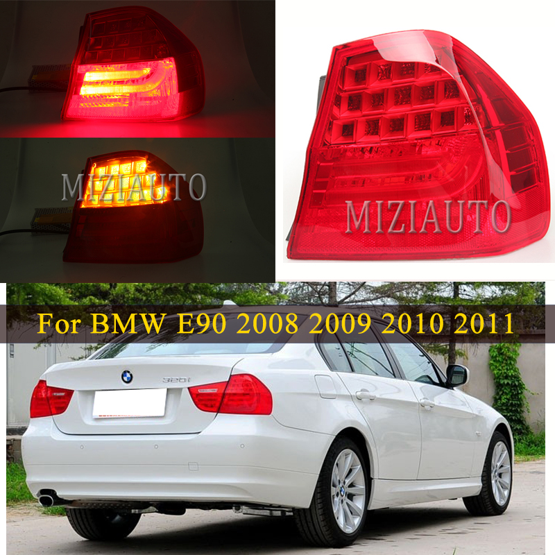 Rear Tail Lamp Light For BMW 3 SERIES E90 2008 2009 2010 2011 LED Light LEFT / RIGHT Back Side taillights Stop Brake light Fog image