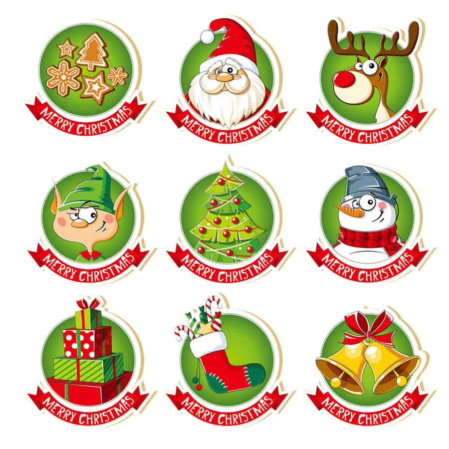 AZSG Cute Christmas Badge Clear Stamps/Seals For DIY Scrapbooking/Card Making/Album Decorative Silicone Stamp Crafts