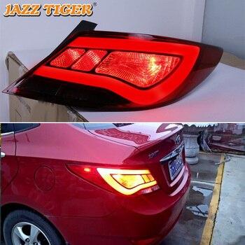 Car LED Tail Light Taillight For Hyundai Accent Solaris 2012 2013 2014 Rear Fog Lamp + Brake Light + Reverse + Turn Signal Light