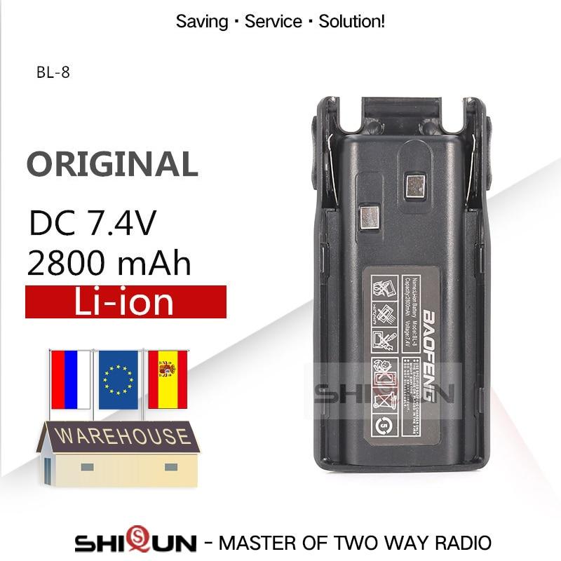 Original BL-8 Battery For Baofeng UV-82 2800mAh Optional 3800mAh Battery For Uv 82 UV82 UV-8D UV-89 UV-82HP UV-82HX UV-82 Plus