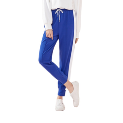 SEMIR Women Cropped Joggers with Side Stripe Women Pull-on Sports Pants Ankle Length Elastic Drawstring Waistband