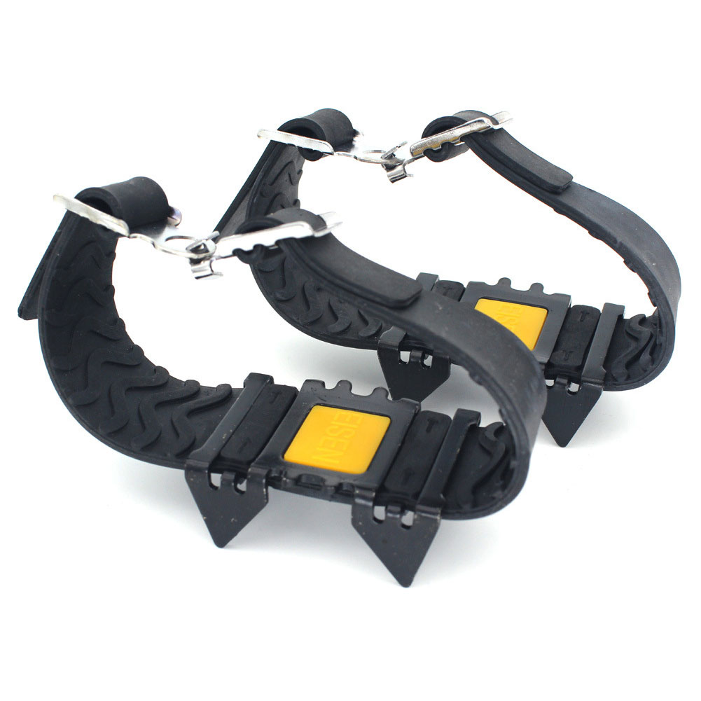 4 Teeth Overshoe Spikes Cleats Hiking Crampons Anti-slip Ice Gripper Outdoor Climbing Traction