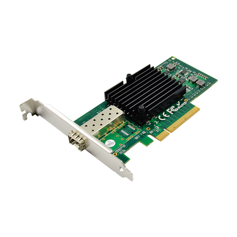PCIe X8 Intel 82599EN Single Port 10GbE Fiber Network Card SFP+ Server Adapter