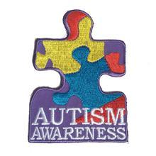 Гоночные нашивки с вышивкой, внимание к аутизму, для одежды, 2,5*3,5 дюймов, термоусадочные, с железной подложкой