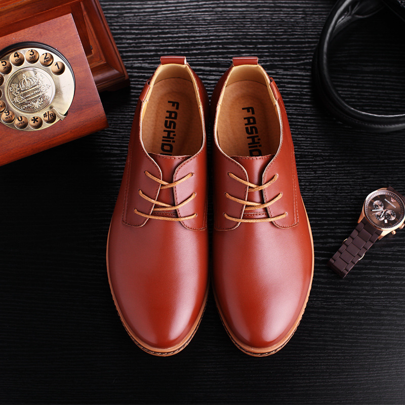 Shoes Men Black/brown Plus Size Men Sneakers 2019 PU Leather Men 39 S Shoes Lace Up Loafers EU38 47-in Men's Casual Shoes from Shoes    2