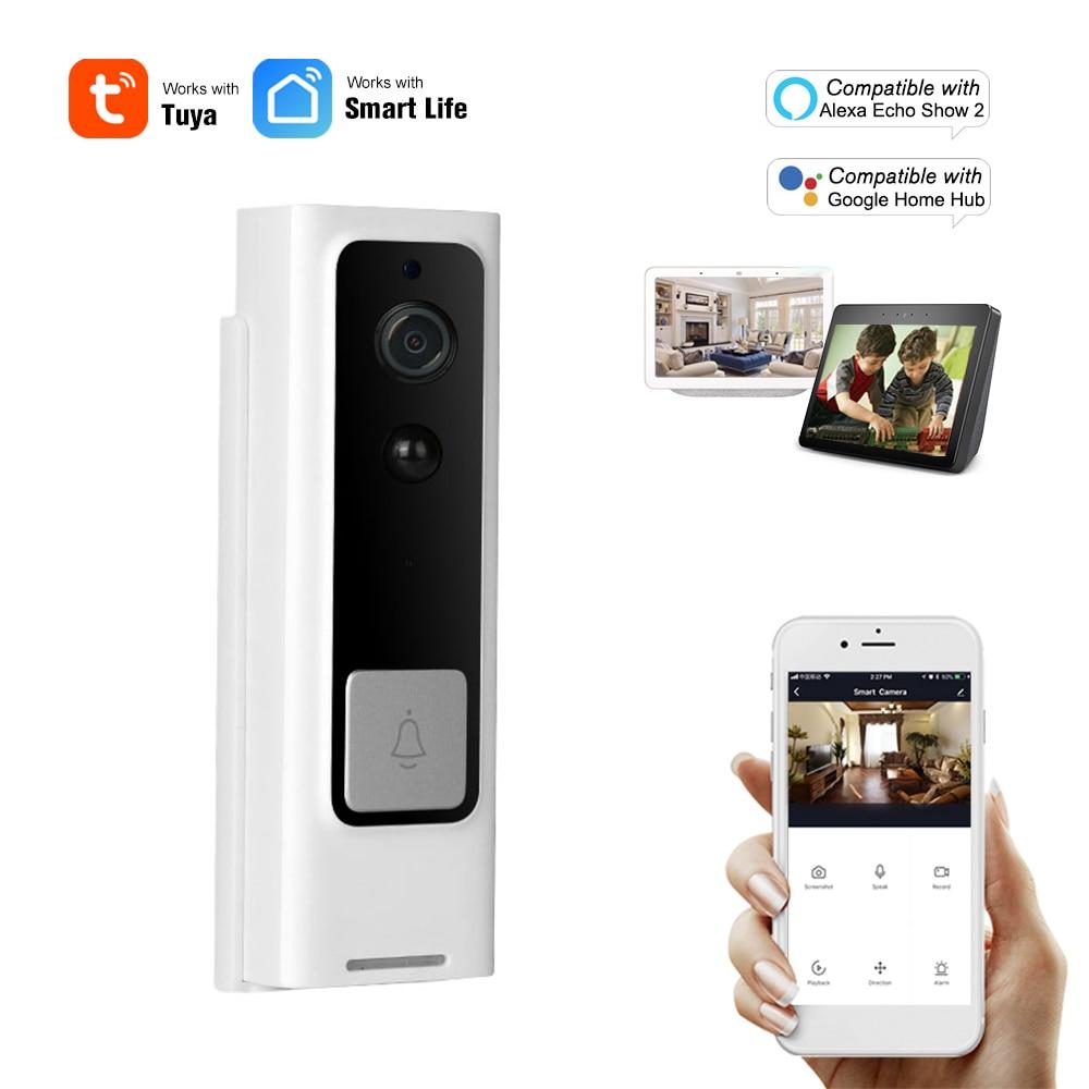 WiFi akıllı güvenlik kapı zili 1080P kablosuz görsel interkom kayıt görüntülü kapı telefonu PIR hareket dedektörü yağmur geçirmez Tuya akıllı