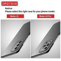 Meizu 18 Case ZROTEVE Frosted PC Coque For Meizu 18 Pro Case Slim Hard PC Back Cover For Meizu 17 18 Pro Shockproof Phone Case 2