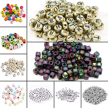 100pcs Letter Beads Square Round Letter Alphabet Beads Acrylic Beads DIY Jewelry Making Bracelet Necklace Accessories Wholesale лампочка gauss led filament candle tailed dimmable e14 5w 4100k 104801205 d