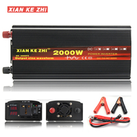 Inverter 12V/24V 220V 2000/3000/4000W Voltage transformer Pure Sine Wave Power Inverter DC12V to AC 220V Converter+2 LED Display