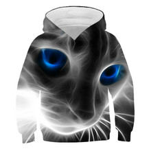 Boys and girls 3D cartoon design hooded sweatshirt, fashion leisure custom funny animal spring and autumn long sleeve shirt, 4t-