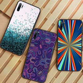 Colorful Glitter Phone Case For Huawei honor Mate P 9 10 20 30 40 Pro 10i 7 8 a x Lite nova 5t image