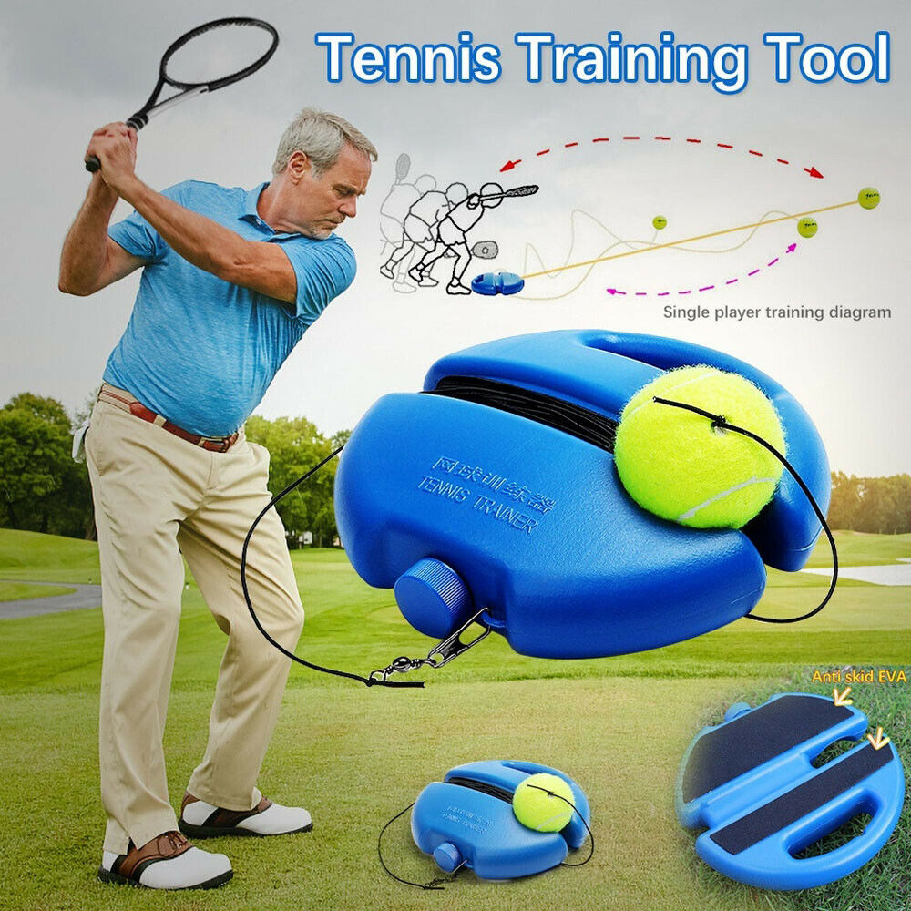 Tennis Trainer Basic Exerciser Tennis Training Tool With Rope Singles Beating Automatic Rebound Rubber Band Sparring Device