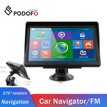 Podofo Cars Navigator GPS Navigation with Free Maps Touch Screen 8GB ROM Support FM Radio MP3 MP4 Extend 32GB Car navigator