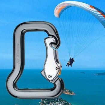 Gancho Maestro de escalada en roca al aire libre parapente Clip de paracaídas de bloqueo mosquetón Aviación de aluminio de escalada en roca gancho