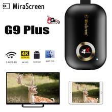 4K MiraScreen G9 Plus 2.4/5G WiFi Display Dongle Receiver HD