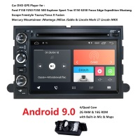Android 9.0 Monitor DVD Multimedia Player 2G RAM 16G ROM Radio GPS For Ford F 150 Expedition 4G WIFI RDS OBD2 DVR DAB+BT SWC CAM