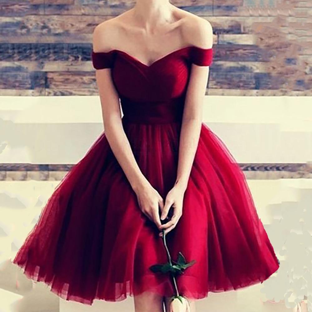 Простое красное платье для выпускного вечера Verngo, Короткое бальное платье, платье для выпускного вечера, платье на шнуровке, платье для выпускного вечера, платье для выпускного вечера Платья на выпускной      АлиЭкспресс