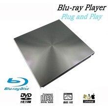 Unidad de DVD Blu Ray 3D externa USB 3,0 BD CD DVD Burner Player escritor lector para Mac OS Windows 7/8.1/10/Linxus, portátil, PC