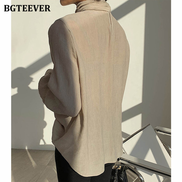 Winter O-neck Solid Blouse  5