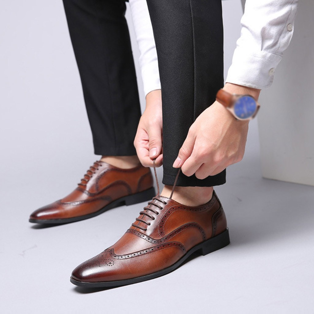 New Arrival Retro Bullock Design Men Classic Business Formal Shoes Pointed  Toe leather shoes Men Oxford Dress Shoes Size 38 48|Formal Shoes| -  AliExpress