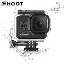 SCHIEßEN 60M Unterwasser Wasserdichte Gehäuse Fall für GoPro Hero 8 Schwarz Kamera Tauchen Schutz Dive Abdeckung für Go Pro 8 zubehör