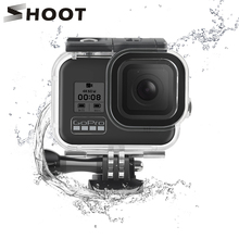 SHOOT 60Mกันน้ำใต้น้ำสำหรับGoPro HERO 8 กล้องสีดำดำน้ำDIVEสำหรับGo Pro 8 อุปกรณ์เสริม