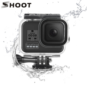 Image 1 - SHOOT 60M Underwater Waterproof Housing Case for GoPro Hero 8 Black Camera Diving Protective Dive Cover for Go Pro 8 Accessories
