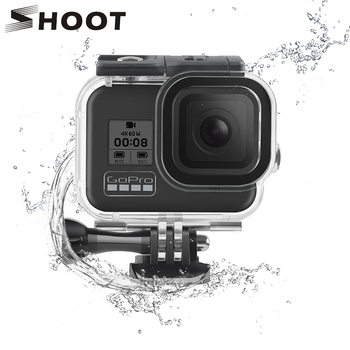 SHOOT 60M Underwater Waterproof Housing Case for GoPro Hero 8 Black Camera Diving Protective Dive Cover for Go Pro 8 Accessories diving waterproof case underwater housing case mount camera accessories for gopro hero 6 5 black action